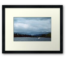 Boat on Bowness Lake District England 19840521 0009 Framed Print