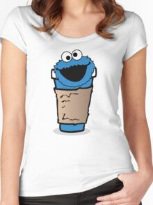 COFFEE MONSTER.  Women's Fitted Scoop T-Shirt