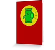 Alan Scott - Original Green Lantern Greeting Card