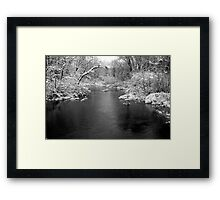 Peaceful Day on Freeman Creek Framed Print