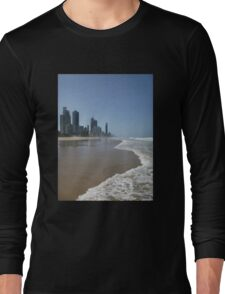 Surfers Paradise Beach Long Sleeve T-Shirt