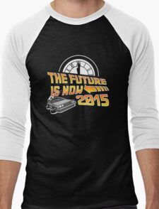 The Future is Now (Back to the Future) Men's Baseball ¾ T-Shirt