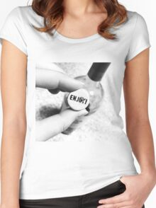 Enjoy the Wine Women's Fitted Scoop T-Shirt