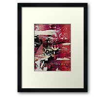 Torn Posters on the Subway Framed Print