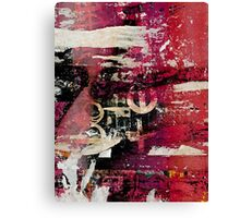Torn Posters on the Subway Canvas Print