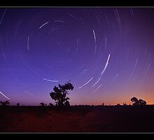 Mungo trails - Lake Mungo, NSW by Tony Middleton