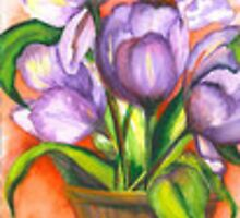 Purple Tulips by Marsha Woods