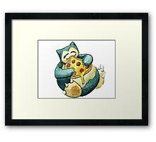 Pokemon pizza party- Snorlax Framed Print