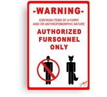 Authorized Fursonnel Canvas Print