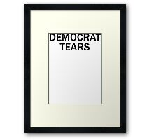 Democrat Tears Framed Print