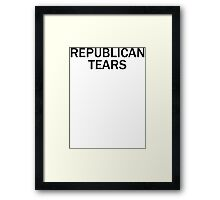 Republican Tears Framed Print