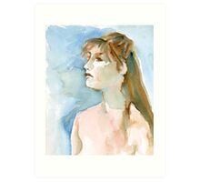 Watercolor Portrait Art Print