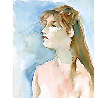 Watercolor Portrait Photographic Print