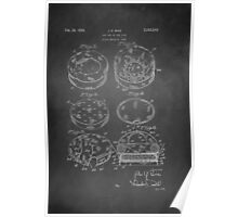 Vintage Dog Bed Patent 1936 Poster