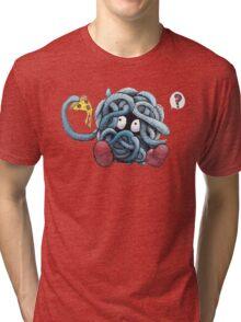Pokemon pizza party- Tangela Tri-blend T-Shirt