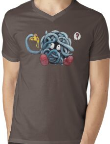 Pokemon pizza party- Tangela Mens V-Neck T-Shirt