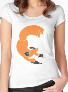 Crazy Like A Fox (Orange) Women's Fitted Scoop T-Shirt