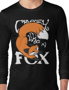 Crazy Like A Fox (Orange) Long Sleeve T-Shirt