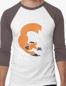 Crazy Like A Fox (Orange) Men's Baseball ¾ T-Shirt