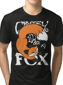 Crazy Like A Fox (Orange) Tri-blend T-Shirt