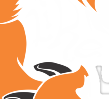 Crazy Like A Fox (Orange) Sticker