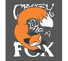 Crazy Like A Fox (Orange) Photographic Print