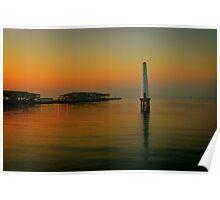 Port Melbourne Lighthouse 6.30am Poster