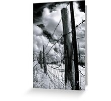 Under White Clouds Greeting Card