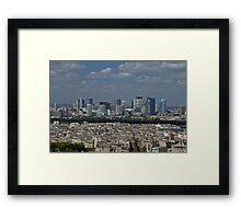 Paris Blue Framed Print
