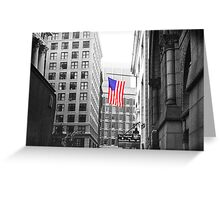 USA alley Greeting Card