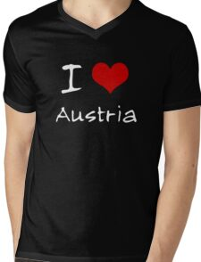 I love Heart Austria Mens V-Neck T-Shirt