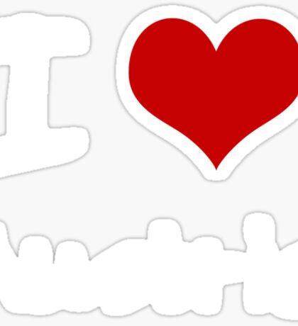 I love Heart Austria Sticker