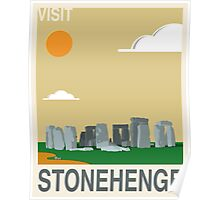 Visit STONEHENGE Travel Poster Poster