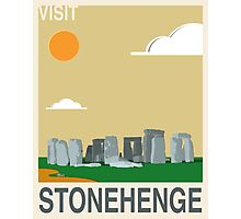 Visit STONEHENGE Travel Poster Photographic Print