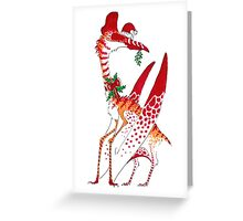 Christmas Quetzalcoatlus Greeting Card
