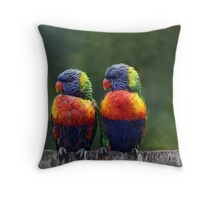 Rendezvous in the Rain Throw Pillow