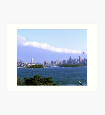 The long white Cloud Sydney Harbour Art Print