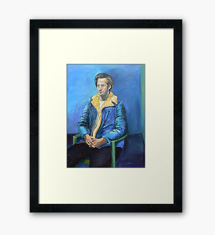 The  $2 Blue Coat, Portrait of Eric  Framed Print