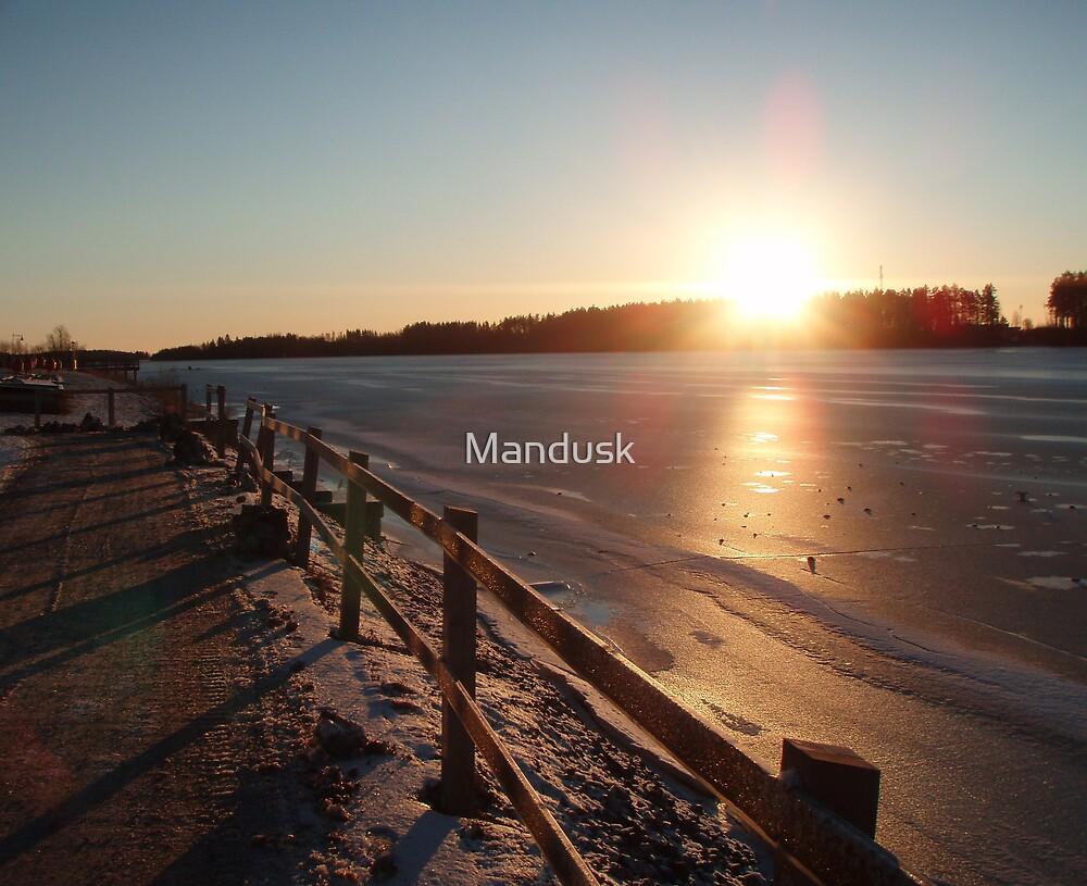 swedish sunset by Mandusk