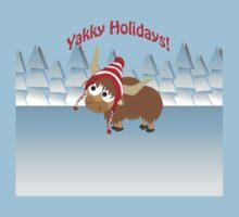 Yakky Holidays! Winter Scene Kids Tee