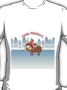 Yakky Holidays! Winter Scene T-Shirt