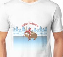 Yakky Holidays! Winter Scene Unisex T-Shirt