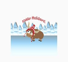 Yakky Holidays! Winter Scene Unisex T-Shirt