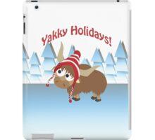 Yakky Holidays! Winter Scene iPad Case/Skin