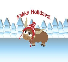 Yakky Holidays! Winter Scene by Eggtooth