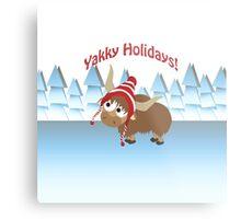 Yakky Holidays! Winter Scene Metal Print