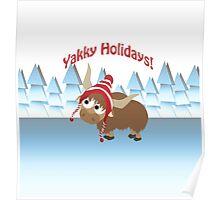 Yakky Holidays! Winter Scene Poster
