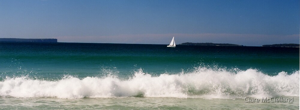 White Sails at Jervis Bay by Clare McClelland