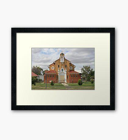St Patrick's Church, Brewarrina. Framed Print