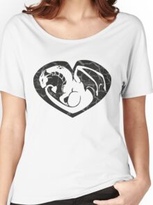 Dragon@Heart Large Women's Relaxed Fit T-Shirt